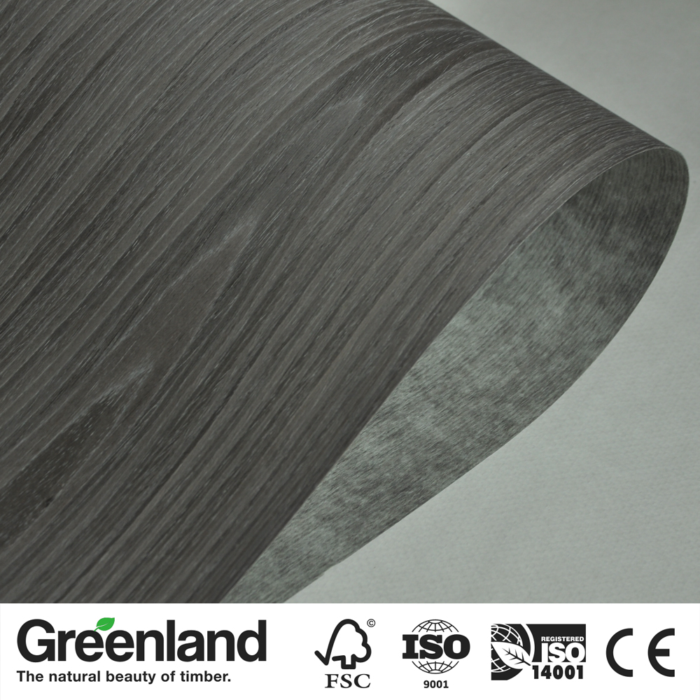 Black OAK Reconstituted Wood Veneer For Furniture