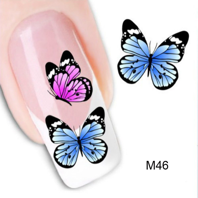 Decorations Christmas Watermark Ongle Stickers For Nail Water Sticker ...