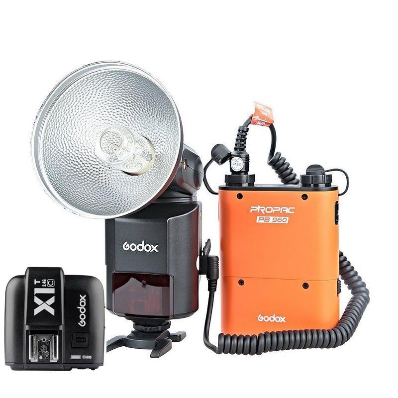 Godox ad 360ii c E TTL вспышка Speedlite + Батарея Мощность пакет + x1c передатчик