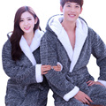 New Flannel Couples Bathrobes Women's Robes Winter Dressing Gowns Women Male Female Sleepwear Kimono Robe Casual Home Clothes