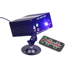 Full Color KTV Disco DJ Party Show Stage LED Laser Projector Light Red Green Blue with Remote Control Switch #LO