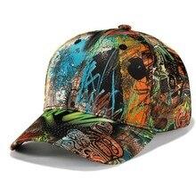 Nuevo estilo de la pintada gorra de béisbol de alta calidad Snapback moda  sombrero pelota Pop Hip Hop sombrero Snapback sombrero. b4cb768085c