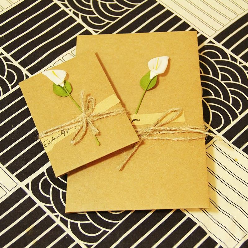 10 Pcs Mixed Wedding Invitations Card Creative DIY Birthday Party Invitation Hand Flower Greeting Cards
