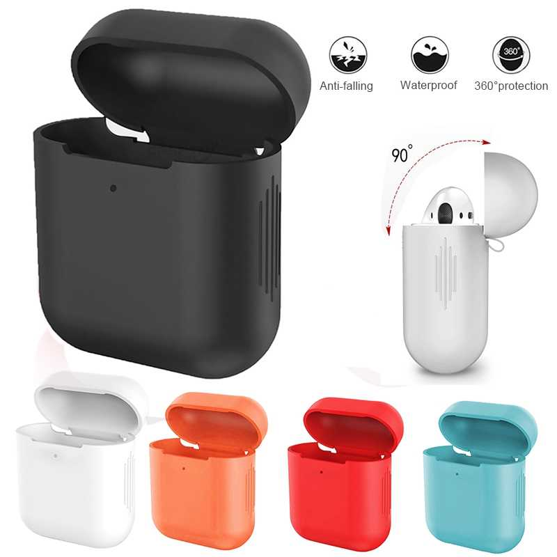 Soft Silicone Cases For Apple Airpods Shockproof Cover Ultra-thin Bluetooth Earphone Case For Airpods 1 2 Universal Skin Box