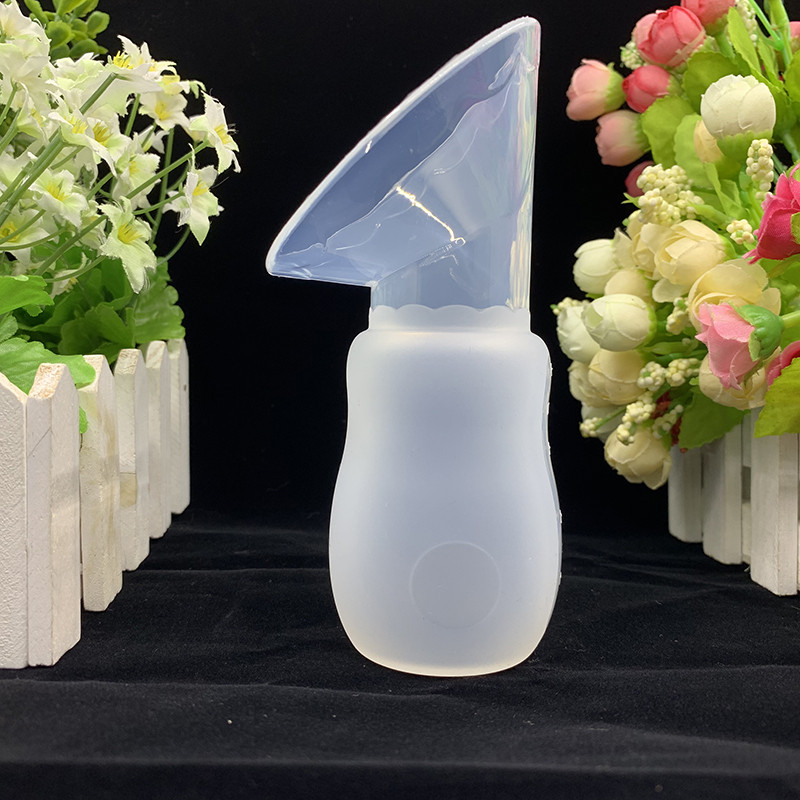 Silicone Breast Pump Manual Breast Pump Partner Milking Anti-overflow Milk Collector Automatically Collect Breast Milk