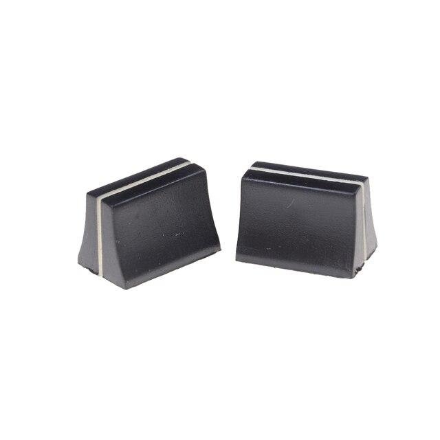 Mélangeur de potentiomètre coulissant noir | 10 pièces, interrupteur pour capuchon de commutateur WF arbre de 4mm de haute qualité
