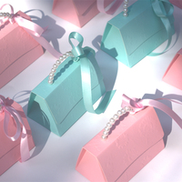 50pcs/lot Luxury Portable Party Wedding Favor Candy Boxes creative Baby Shower Gift Bag DIY christmas gift box Packaging boxes