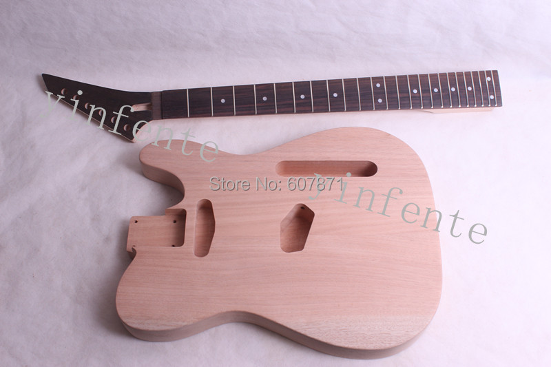 1pcs NEW high quality Unfinished electric guitar neck Rose Fretboard with body