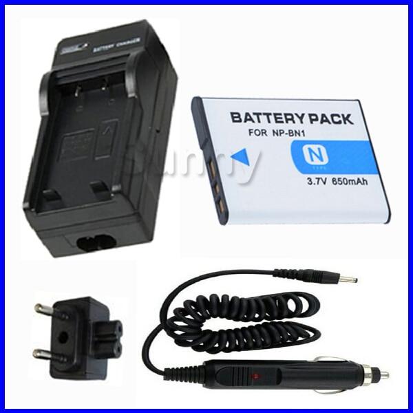 Batteria + Caricabatterie per Sony Cyber-shot dsc-DSC-QX10, DSC-QX100, DSC-TF1, DSC-W710, DSC-W730, DSC-W800, DSC-W810, DSC-W830 Fotocamera Digitale
