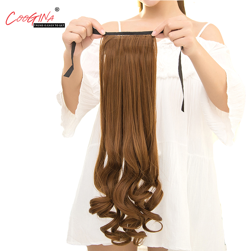Coogina 2018 New Fashion Long Wavy Ponytail For Women Synthetic Ponytail Hair Extensions 120g 50 inches