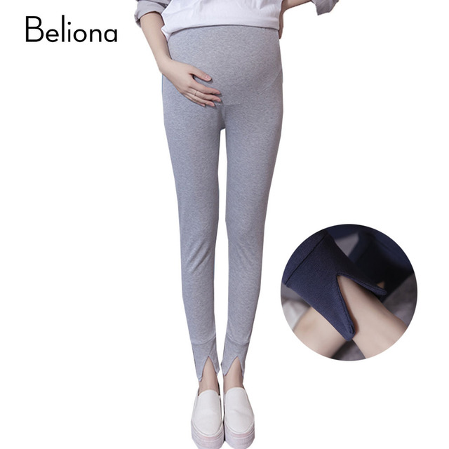 679fee952be45d Maternity Leggings High Waist Split Maternity Pants Stretch Slim Abdominal  Belly Care Pregnancy Clothes Fmeale Trousers Products