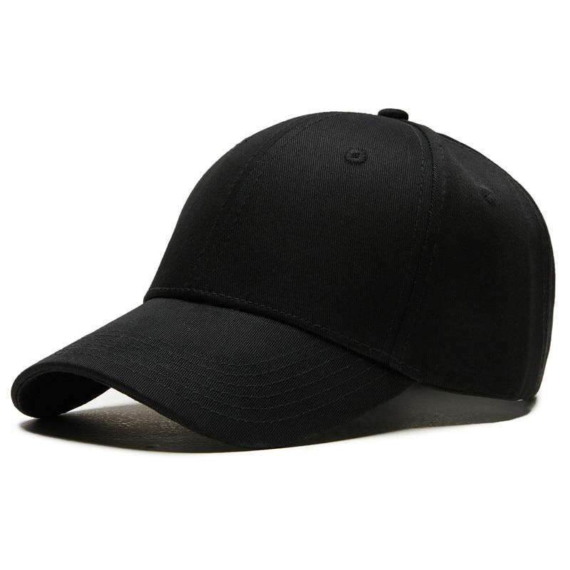 snapback   baseball     caps   Solid men   cap   women's bones dad hats black Casual male   baseball     cap   for men cotton adjustable solid hat