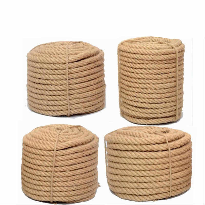 1mm -16mm Natural 100% Jute Rope Decoration Environmental Fancy Hemp Yarn for Diy Home Shop Decoration for Handmade Basket Lamps