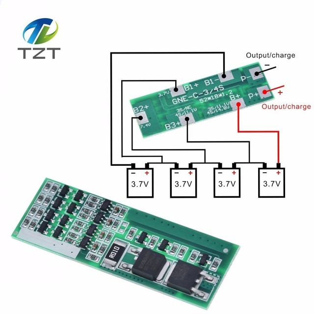 4 S 8A Polymeer Li Ion Lithium Batterij Oplader Bescherming Boord Voor 4 Seriële 4 Stuks 3.7 Li Ion Opladen Beschermen Module bms