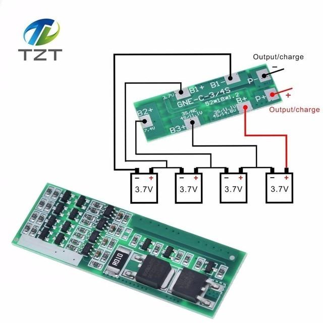 Защитная плата для зарядки литий ионных аккумуляторов, 4 шт., 3,7 дюйма, 8 А, для 4 серии, защитный модуль BMS для зарядки литий ионных аккумуляторов