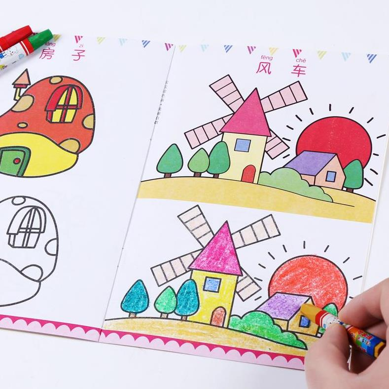 12 Book /set Children Kids Cute Stick Figure Children's Drawing Book Coloring Books Easy To Learn Drawing Book