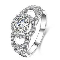 1 carat sona 4 rogacz diamant biżuteria 925 srebrny pierścionek zaręczynowy ślubne na zawsze kobiet usa rozmiar od 4 do 10.5 (NM)