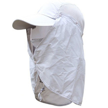 UV Protection Visor Fishing Cap Breathable Sun Hat Removable Neck Sunshade Camping Cap for Women and Men