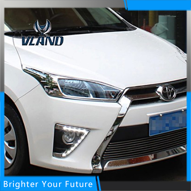 Daylight For Toyota Yaris 2013 2014 White Daytime Running Lights DRL Front Fog Lamp саваж каталог осень зима 2013 2014