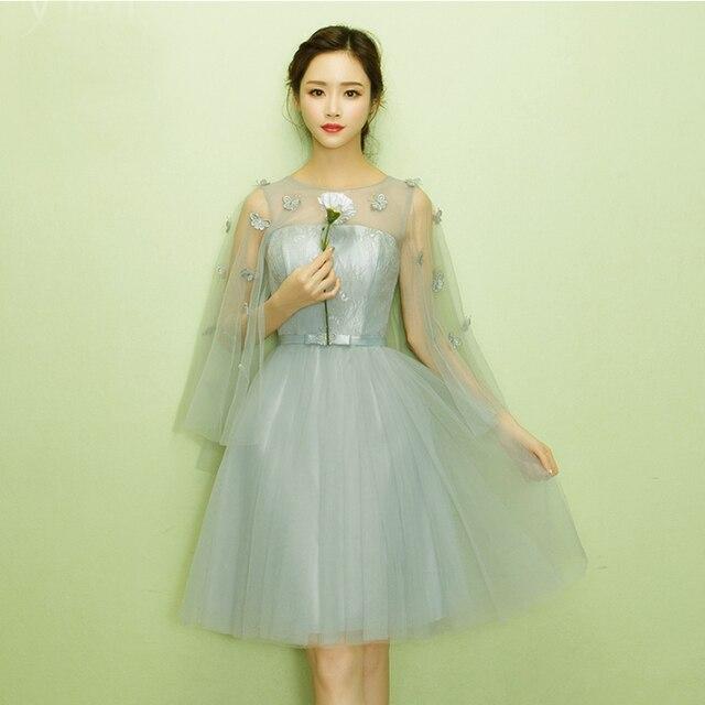 2818821280a modest cute short grey grade 8 teenage graduation dress fancy dreses girls  tulle ball gown dresses for teens under  50 X4022