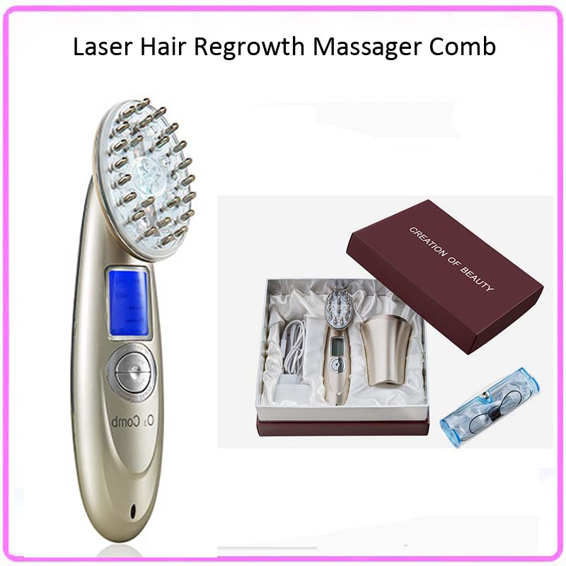 Electric Head Hair Nurnishing Laser Regrowth Massager Comb Brush For Hair Loss Treatment LCD Display eu us au jp kr hk plug 110v 220v hair loss laser helmet for hair regrowth 64 68 medical laser diode hat helmet