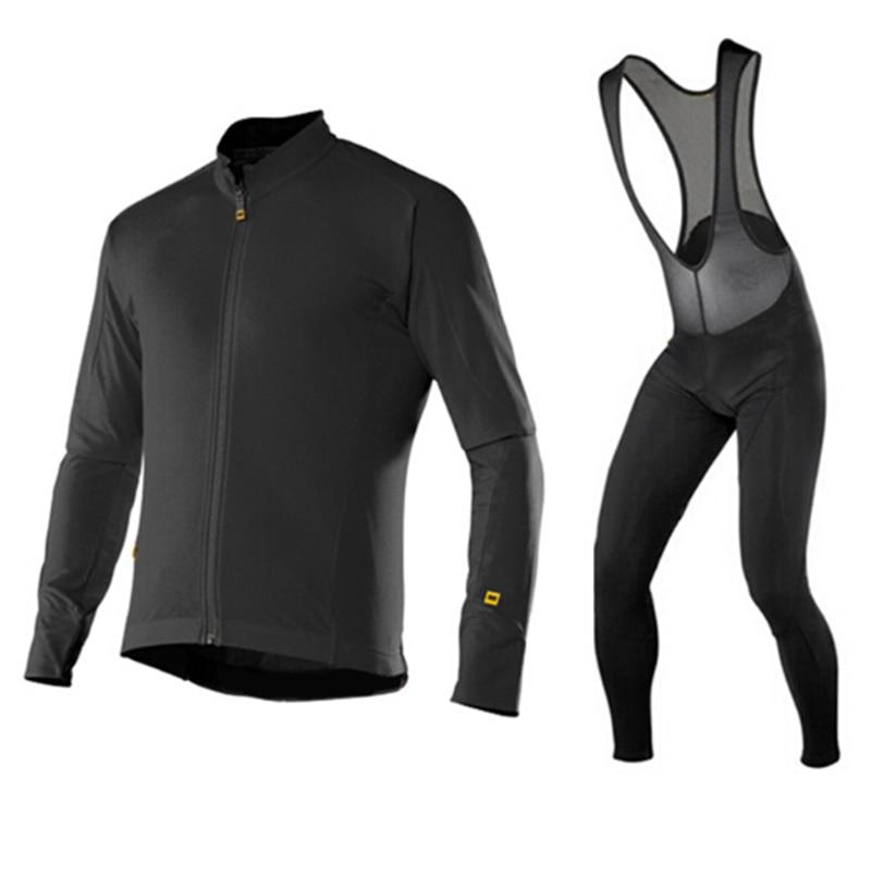 2017 Мавик Pro команда весна/осень с длинным рукавом Велоспорт Джерси нагрудник комплект велосипед одежда комплект РОПА ciclismo