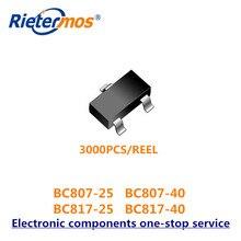 SMD 3000 قطعة SOT23 BC807 25 BC807 40 BC817 25 BC817 40 BC817 16LT1G BC807 BC817 عالية الجودة