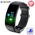 Zb13 banda inteligente pulsera swim natación impermeable del reloj del ritmo cardíaco del pulso del reloj inteligente bluetooth para ios android huawei