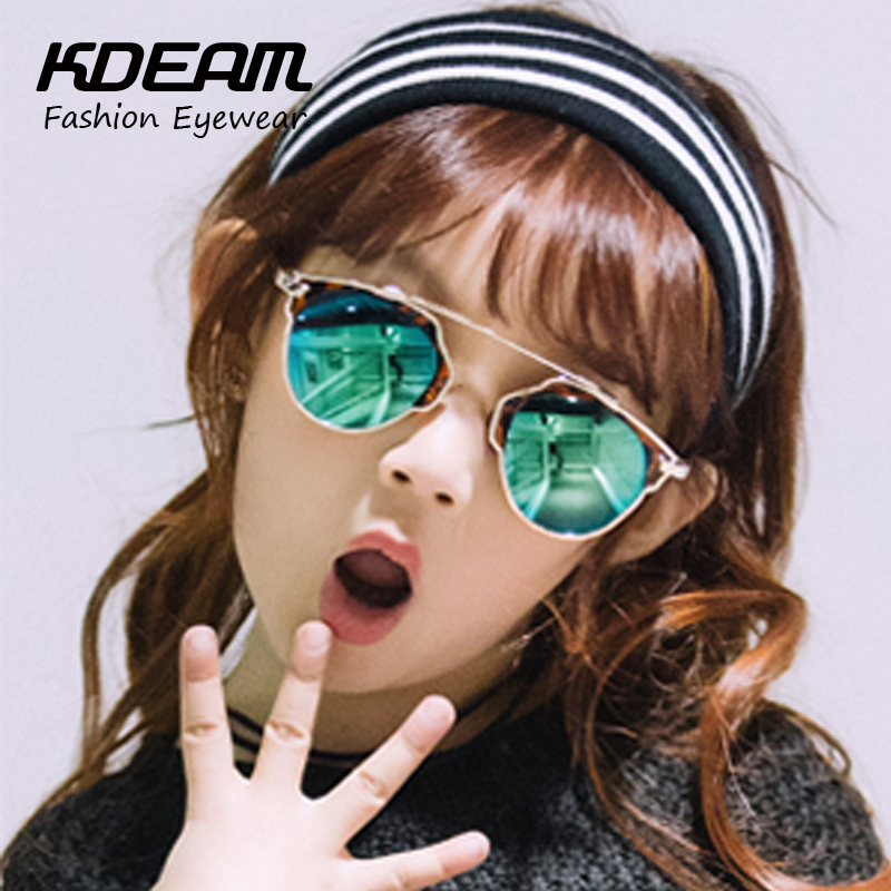 KDEAM 2016 Hot Brand Designer Children Glasses Cateye UV400 High Quality Kids Sunglasses lunette de soleil enfant Retro Glasses