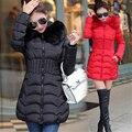Winter Women Jacket Long Coat Super Large Collar Parka Slim Waist Coat Jacket