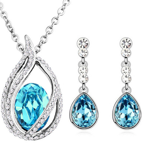 austrian Crystal tear drop flame pendant fashion jewelry sets - Fashion Jewelry - Photo 2