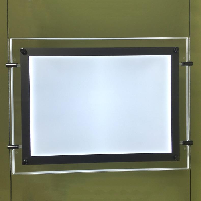 Acryl Rahmen A4 Doppelseitige LED Werbung Light Box, Dünne Zwei ...