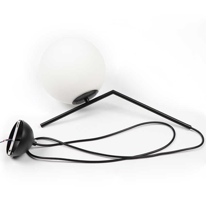 Подвесная лампа для помещений Современная Подвесная лампа для спальни Гостиная украшение освещение Стекло абажур с светодиодный лампы E27 AC90-260V