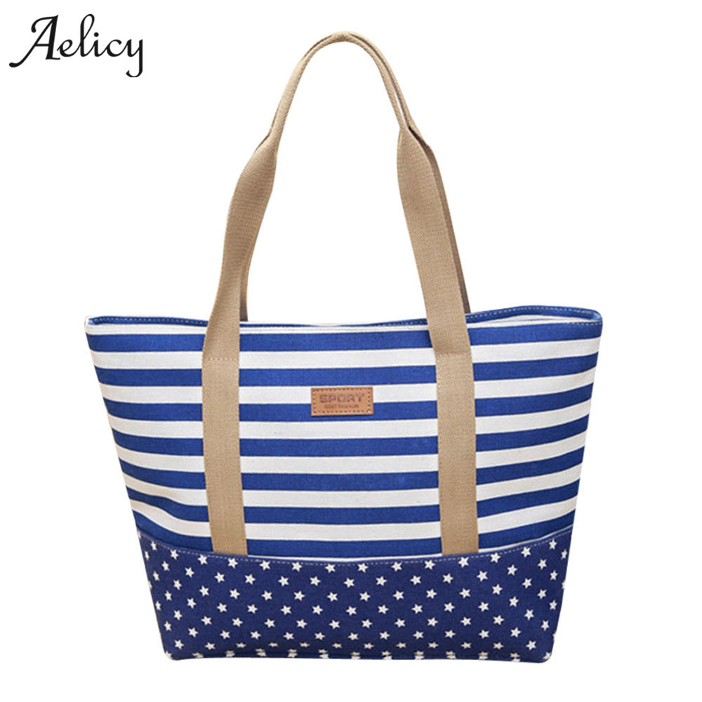 Aelicy luxury Women Big Bags Canvas Wide Stripe Shoulder Bags Stitching Color Simple Ladies Bags Handbags Women Famous BrandsAelicy luxury Women Big Bags Canvas Wide Stripe Shoulder Bags Stitching Color Simple Ladies Bags Handbags Women Famous Brands