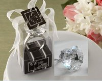 100PCS LOT KATE ASPEN Heart Shaped Diamond Keychain Keychains Clear Wedding Party Gift Favor Table Decoration
