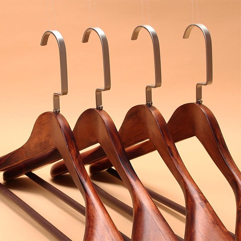 5pcs/lot 40cm And 44cm Adult Wooden Hanger Big Coat Hangers For Clothes Rack