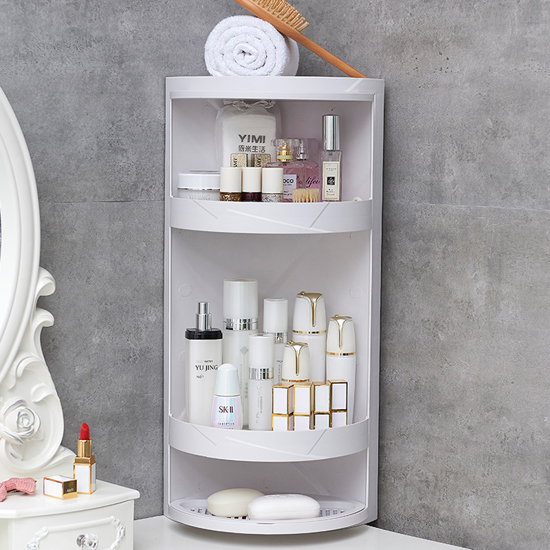 Bathroom shelf free punching wall type triangle storage rack toilet bathroom vanity multi-layer corner frame LW03231127
