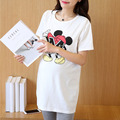 Nursing Summer Character T-shirt Cotton Short-sleeve Maternity Clothes White Tees Tops