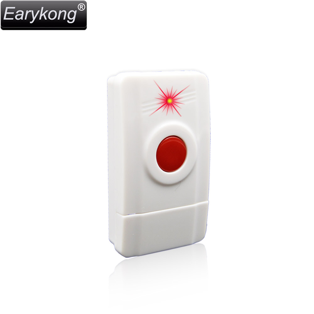 New Hot Selling Free Shipping 433MHz Wireless Emergency Alarm Button. Panic Button, One Key Alarm, Can install on the wall,
