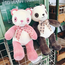 New Style Cute Tie Panda Plush Toys Stuffed Animal Soft Doll Toy Children Gift Girls Birthday Gifts