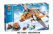 Free Shipping Bela 391Pcs City Arctic Supply Plane Model Buildinlg Kits Blocks Brick Toy Compatibe With