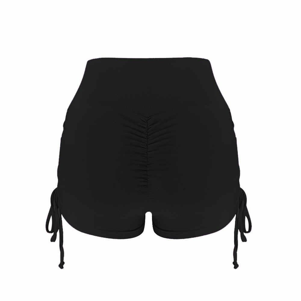 Shorty damskie spodenki zabezpieczające przed otarciami najnowsze spodnie jednolite kolory wysoki gorset płaszcza odchudzanie trening oddychające majtki