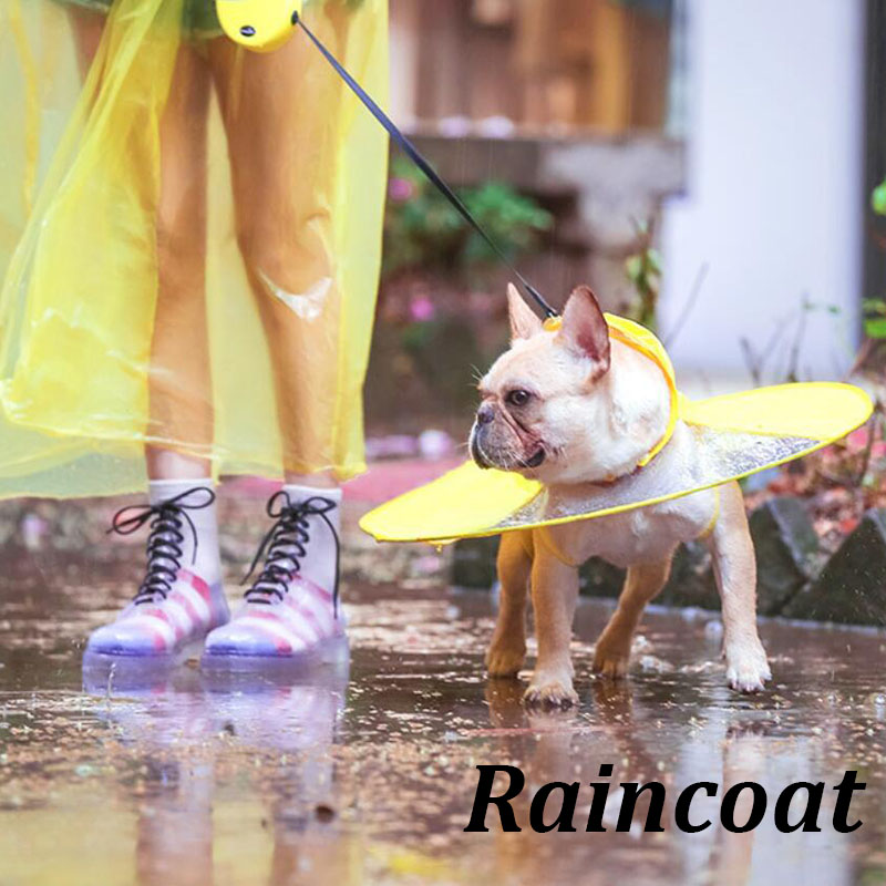 1pcs Flying Discs Shape Pet Dog Raincoat UFO Puppy Golden Retriever Waterproof Rain Coat Puppy Large Dog Clothes Pet Supplies ...