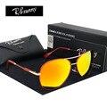 Alta qualidade homens marca de moda óculos polarizados óculos de Condução brilho óculos de Vôo da Força Aérea Mulheres amor clássico óculos de sol