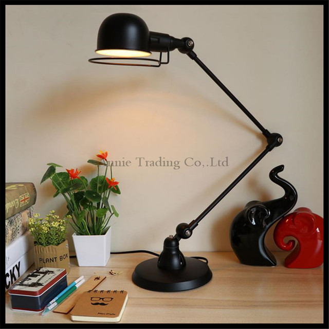 Nordic nostalgic bedroom deak light black retro american village nordic nostalgic bedroom deak light black retro american village table lamp restaurant cafe iron bedside decoration aloadofball Images