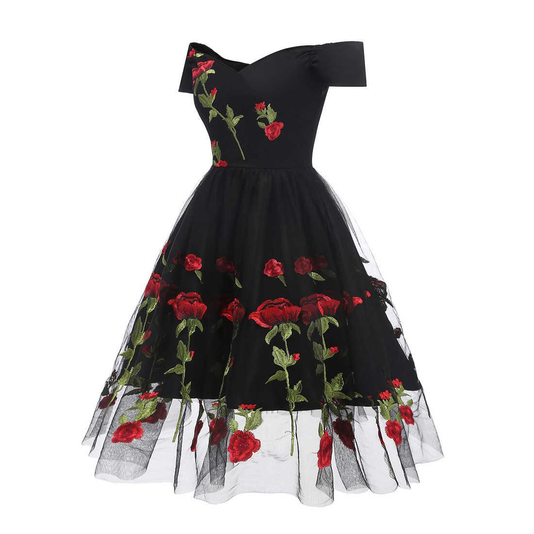 2019 Summer Dress Women Vintage 70s Mexican Ethnic Floral Embroidered Boho Mini Off Shoulder Party Dress Vestido Robe Femme Gift Dresses Aliexpress