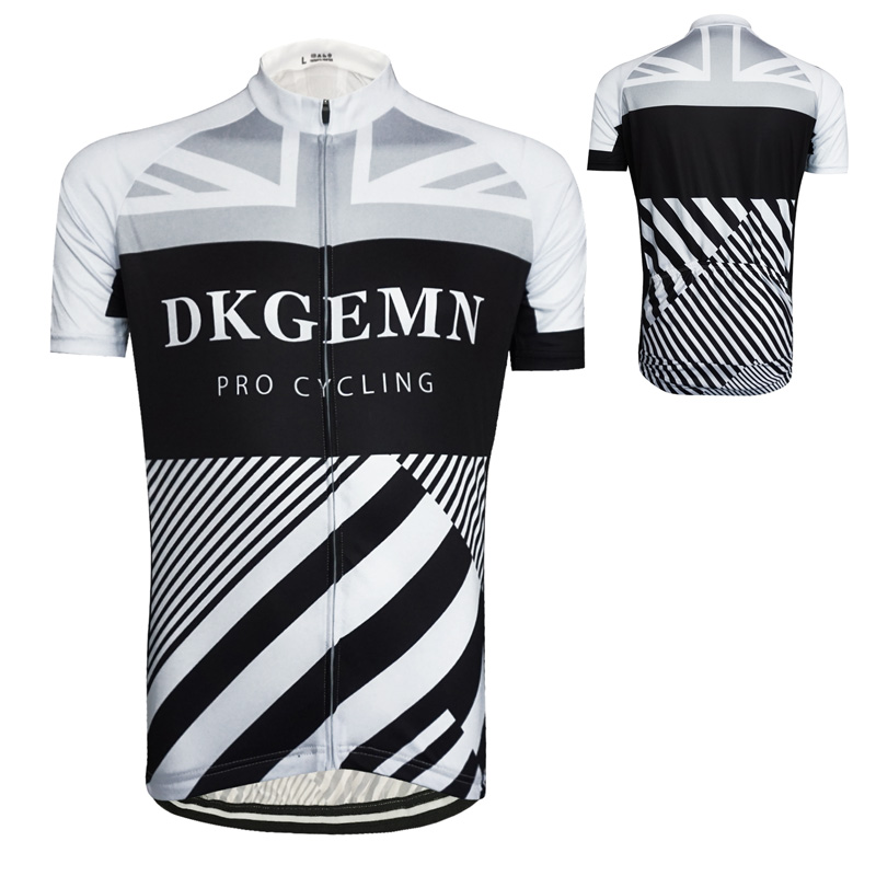 f05868f6b 2017 New DKGEMN Mens Cycling Clothing Bike Stripes Pattern Black White Cycling  jersey Ciclismo Hombre Maillot Simple Tops Wear