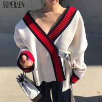 SuperAen Autumn and Winter New 2018 Women Sweater Coats Wild Casual Fashion Ladies Sweater Korean Style Cardigan Knit Coats