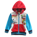 Muchacho del invierno outwear niños de dibujos animados thomas chaqueta de algodón chaqueta de la capa hoodies de los cabritos outwear niños ropa de invierno A4152