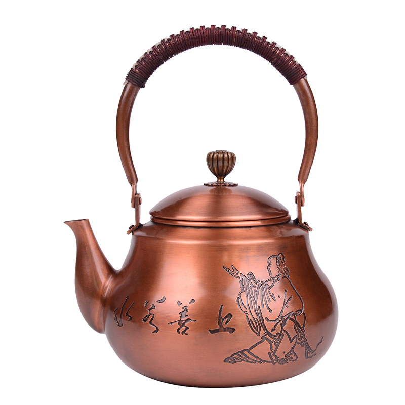Copper pot boiling water handmade copper material without coating 1500MLCopper pot boiling water handmade copper material without coating 1500ML